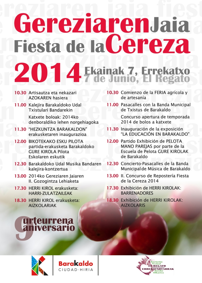Programa Fiesta de la Cereza 2014. El Regato